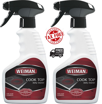 Weiman Daily Cooktop Heavy Duty Cleaner & Polish Glass/Ceramic 12 Fl. Oz (2 Pack