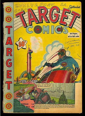 Target Comics V1 #8 Scarce Classic Sci-Fi Cover Wolverton Funnies Inc. 1940 FR