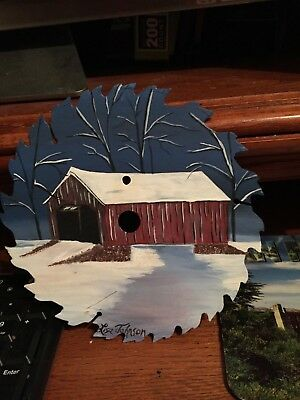 Sawblade Of Covered Bridge In The Winter Time By Talented Artist Lids Johnson