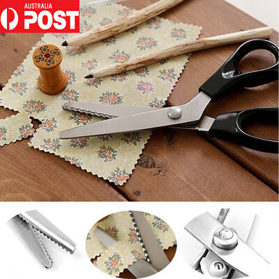 Professional Dressmaking Pinking Shears Fabric Cloth Crafts Zig Zag Cut Scissors