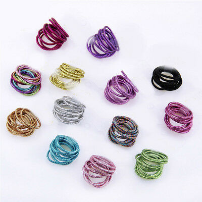 10Pc Hair Scrunchy Rope Elastics Hairbands Tie Headwear Kids Hair Accessories