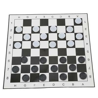 Checkers Draughts Classic Checker Board Game Family Kid Traditional Toy C
