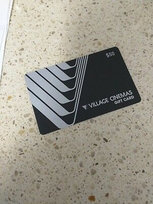 Village Cinemas $50 Gift Card Date Of issue May 2018 Unwanted Gift