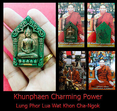 Real Thai Amulet Holy Power Khunphaen Charming Business Lung Phor Lua No.2