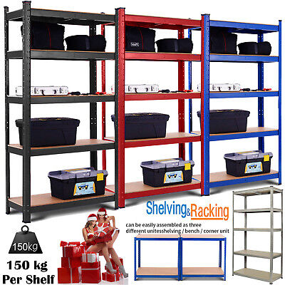 5 Tier Warehouse Industrial Heavy Duty Boltless Rack Metal Shelving Racking Unit