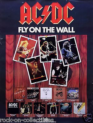 AC/DC 1985 Fly On The Wall Original Vintage Promotional Poster