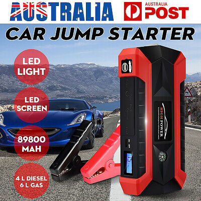 89800mAh Portable Car Jump Starter 4USB LED Booster Charger Battery Power Bank