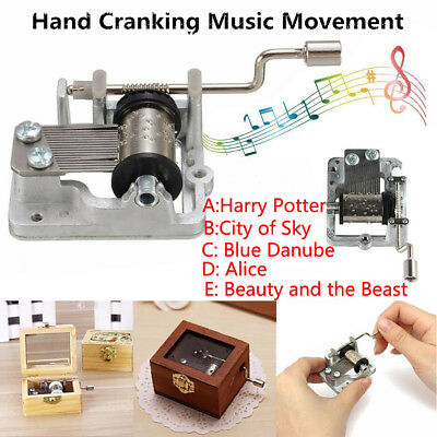 Mechanism Windup Music Box Movement Harry Potter Hedwig's Theme Game of Thrones#