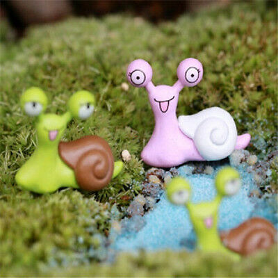 FD2165 Snail Miniature Dollhouse Garden Craft Fairy Bonsai Plant Decor 1pc ☆