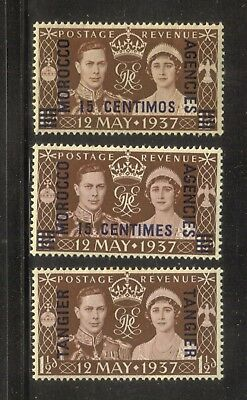 Morocco Agencies 1937 British Commonwealth King George Vi Coronation Mint Hinge