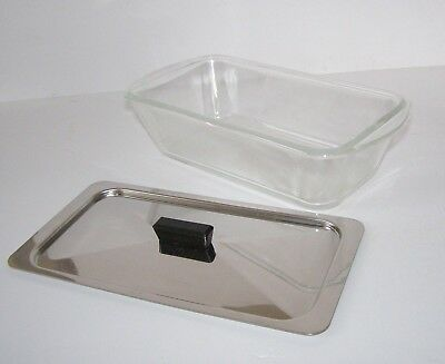 Glass GLASBAKE Heat Proof Dish & Lid EKCO Philips Hostess Trolley ~ Free UK Post
