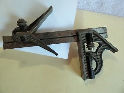 "L.S. STARRETT 6"" Combination Square w/ Center Head."