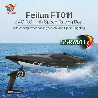 Feilun FT011 65cm 2.4G RC Brushless 55km/h High Speed Racing Flipped Boat SP
