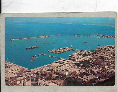 GIBRALTAR,Town and Harbour. 0ld postcard