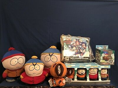 SOUTH PARK 10pc Lot Collectibles With An Inflatable Southpark Chair
