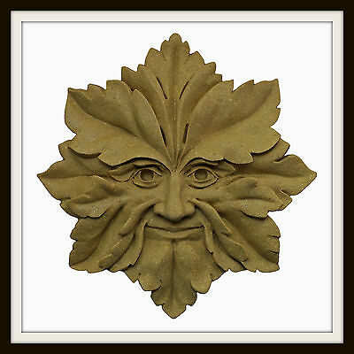 Green Man Face Treeman Shed Garage Hanging Greenman Garden Wall Plaque
