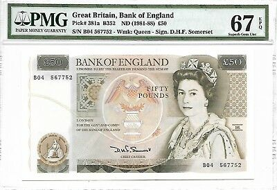 Great Britain, Bank of England - 50 pounds, nd (1981-88). PMG 67EPQ.