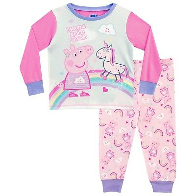 Peppa Pig Pyjamas | Girls Unicorn Pj Set | Kids Peppa Pig Pjs