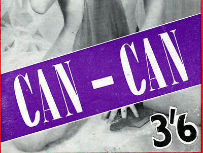 CAN-CAN:Scarce First Issue ca.1959-Classic Glamour/Pin-Up Magazine