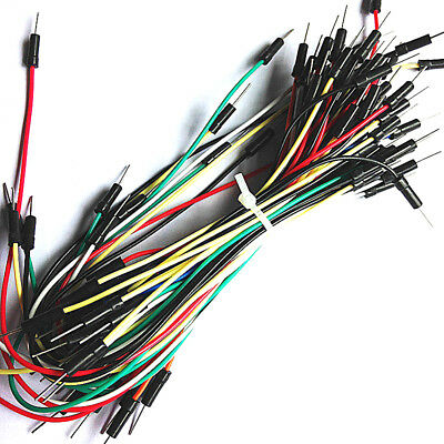65PCS Flexible Solderless Breadboard Jumper Cable Wires For Arduio 11-24cm Fsp
