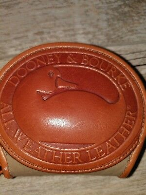 Vintage Dooney & Bourke Coin Purse Big Duck Taupe