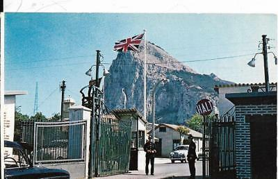 GIBRALTAR, British Frontier Gates & Other Side of Rock,  postcard