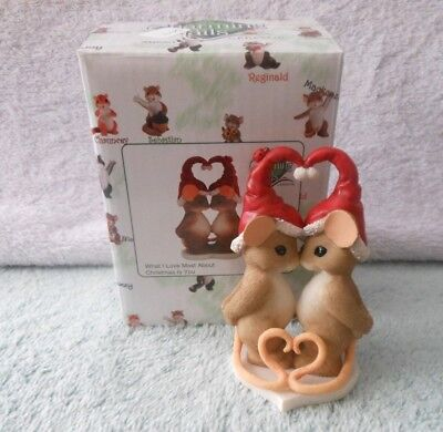 Charming Tails Enesco 2015 What I Love Most About Christmas Is You #4046943