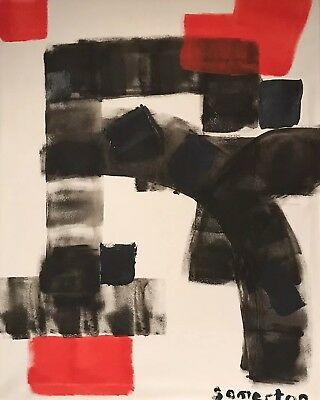 ROBERT SOMERTON (b.1972) LARGE SIGNED BRITISH ABSTRACT EXPRESSIONIST PAINTING