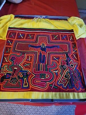 Double sided blouse Mola by the Kuna Indians of the San Blas Islands of Panama