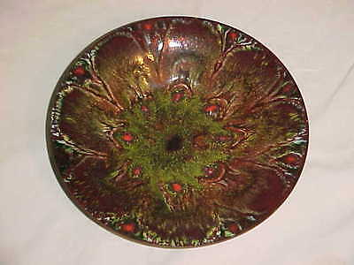 Signed Donald Don Andrick Midcentury Modern Abstract Enamel Copper Art Bowl '60S