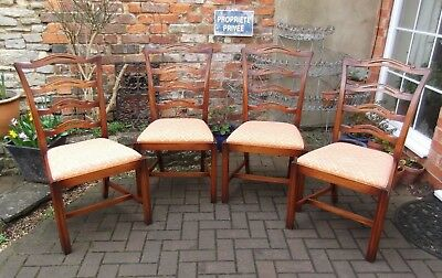 Excellent Quality Set Of Four Bevan Funnell Reprodux Mahogany Dining Chairs