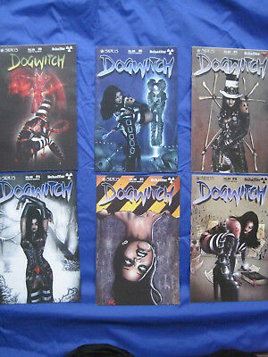 DOGWITCH, bundle of 6 issues : 2,3,4,5,6,9. SIRIUS SERIES by DANIEL SCHAFFER