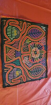 Reverse Applique Mola by the Kuna Indians of the San Blas Islands of Panama