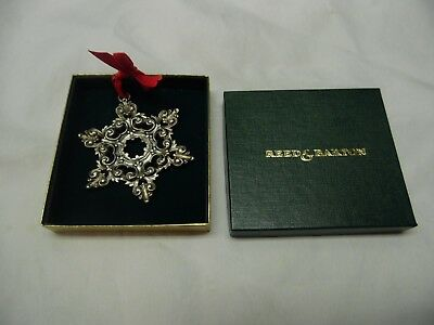 Reed & Barton Pewter Snowflake Christmas Tree Ornament / Number 1