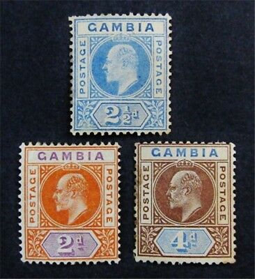 nystamps British Gambia Stamp # 30 // 33 Mint OG H $61