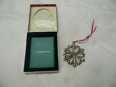 Reed & Barton Pewter Snowflake Christmas Tree Ornament / Number 4 / 1398