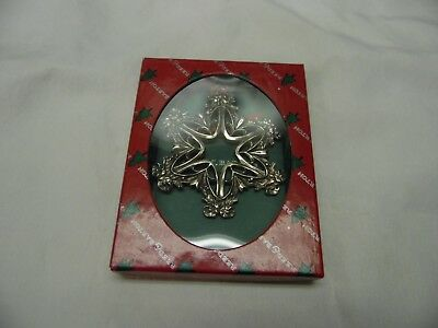 Reed & Barton Pewter Snowflake Christmas Tree Ornament / Number 6 / 1399