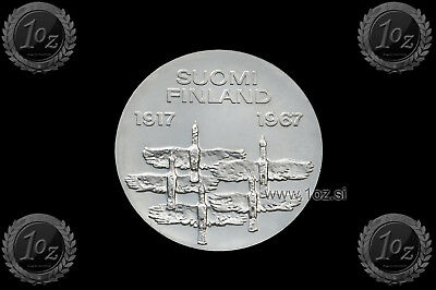 FINLAND 10 MARKKAA 1967 ( INDEPENDENCE ) SILVER Commemorative Coin (KM# 50) XF+
