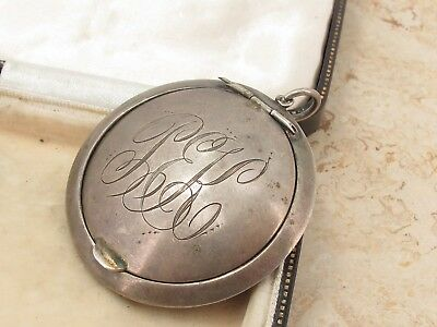 Vintage Antique Sterling Silver 925 Monogram Snuff Box Fob