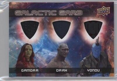 Ud Guardians Of The Galaxy 2 Gamora Drax Yondu Triple Relic Tm11 Ssp Super Rare!