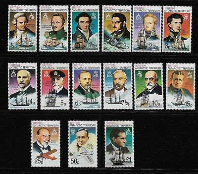 British Antarctic Territory Scott #45a-#59a mint never hinged set Ship Captains