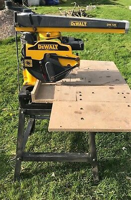 DEWALT DW720 Radial Arm Saw 240v 2000w 250mm £2100 New - Blade Not Included