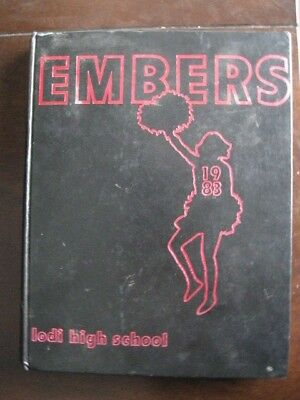 1983 Lodi High School Yearbook ~ The Embers ~ Lodi, California ~