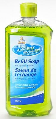 Mr Clean AutoDry Carwash Refill Soap 600 ml 20 Fl Oz New