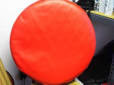 """Semi Truck Fuel Tank Covers Kenworth Set Of 2 24 1/2"""" Red Smooth"""