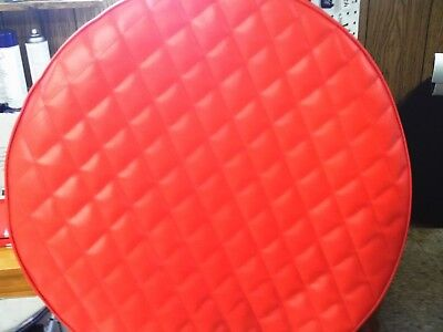 """Fuel Tank Covers Peterbilt 2- 26"""" Tank  Covers  Viper  Red Quilted Diamonds"""