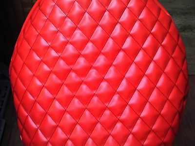 """Set Of Two 26"""" Peterbilt Fuel Tank End Cover Red With Black Quilted Diamonds"""