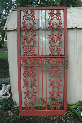 VINTAGE WROUGHT IRON SECURITY DOOR - Acorn & Ivy -  Perfect condition