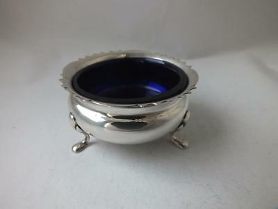Chester 1922 Solid Sterling Silver Salt Pot/ Dia 5.5 cm