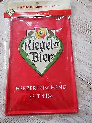 Riegel Bier Metallschild